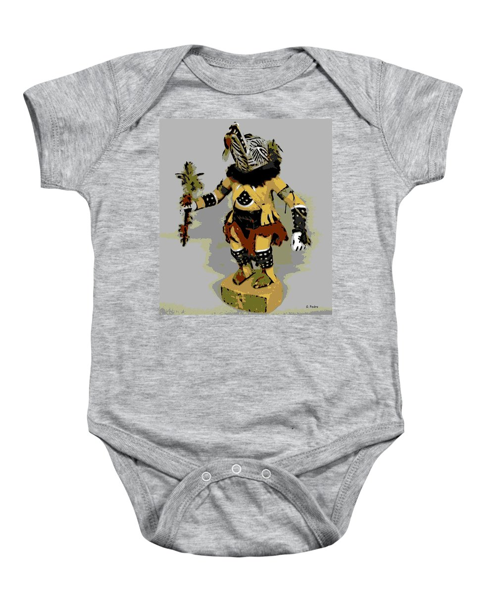 Hopi Dancer Baby Onesie featuring the photograph Hopi Dancer by George Pedro