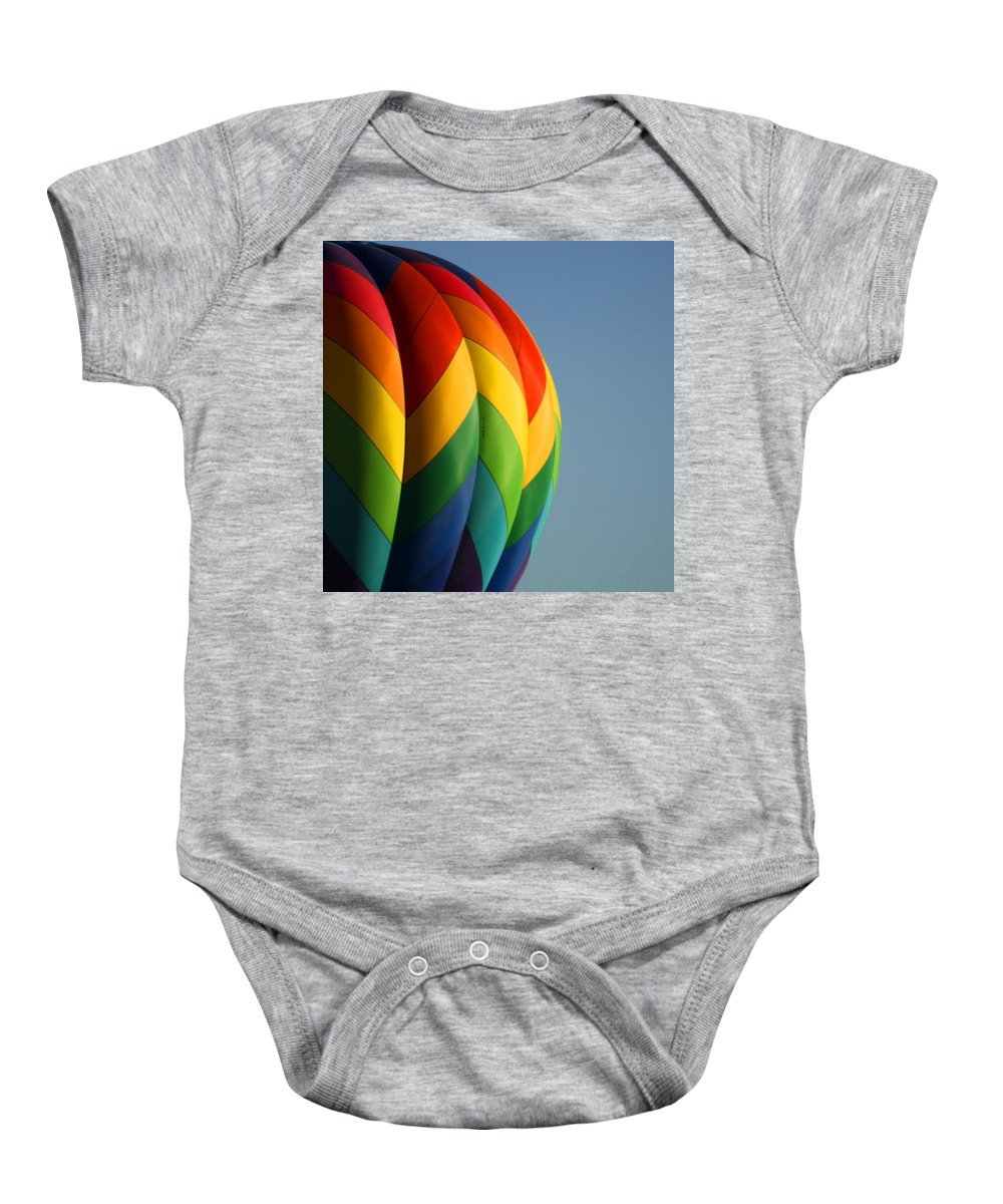 Balloons Baby Onesie featuring the photograph Hot Air Balloon 3 by Ernie Echols
