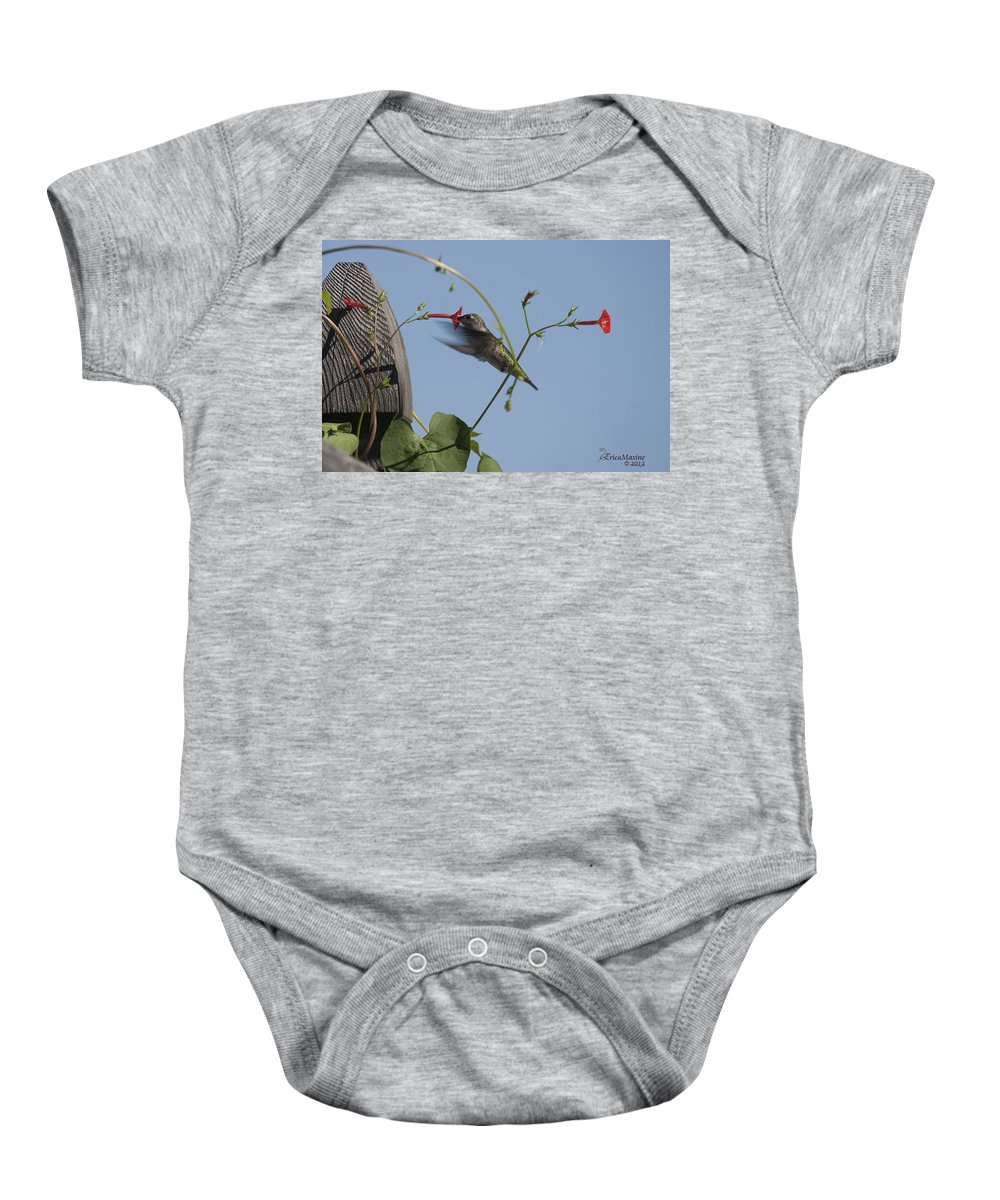 Tn Baby Onesie featuring the photograph Hummer by Ericamaxine Price