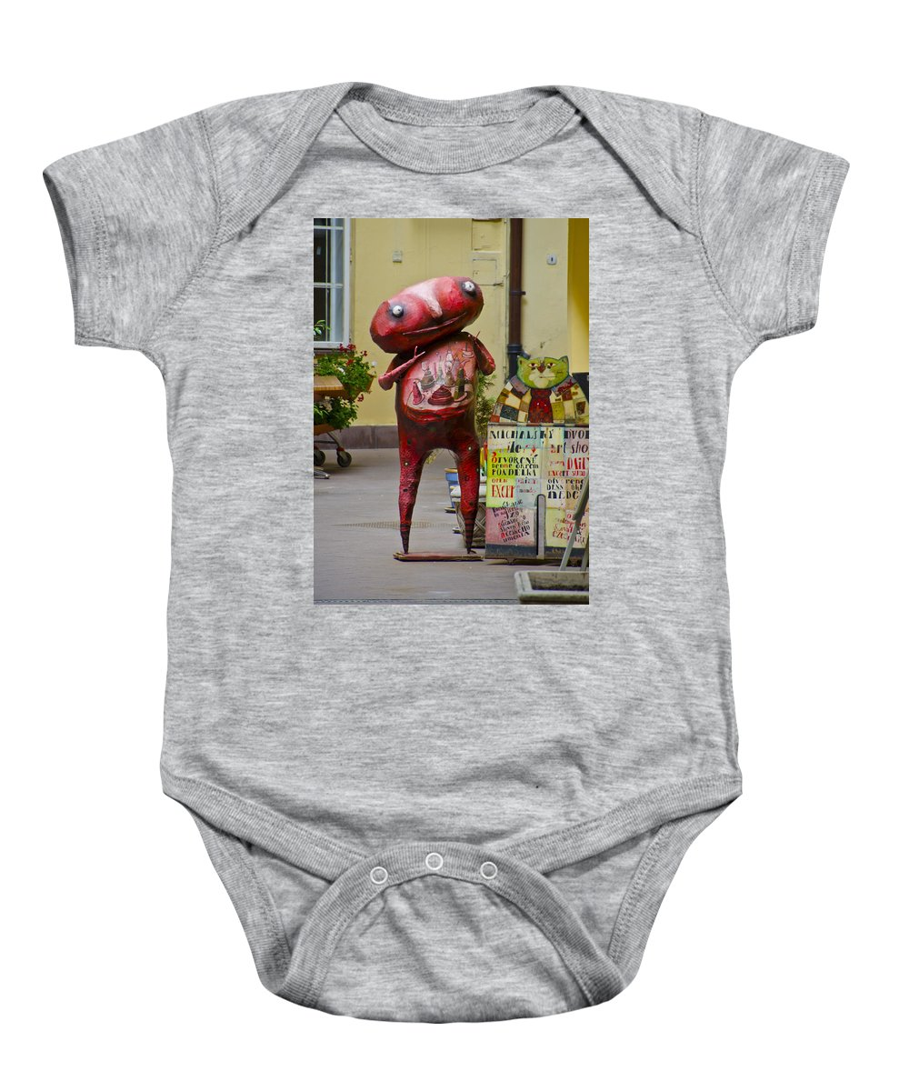 Alien Baby Onesie featuring the photograph Hungry Alien by Jon Berghoff