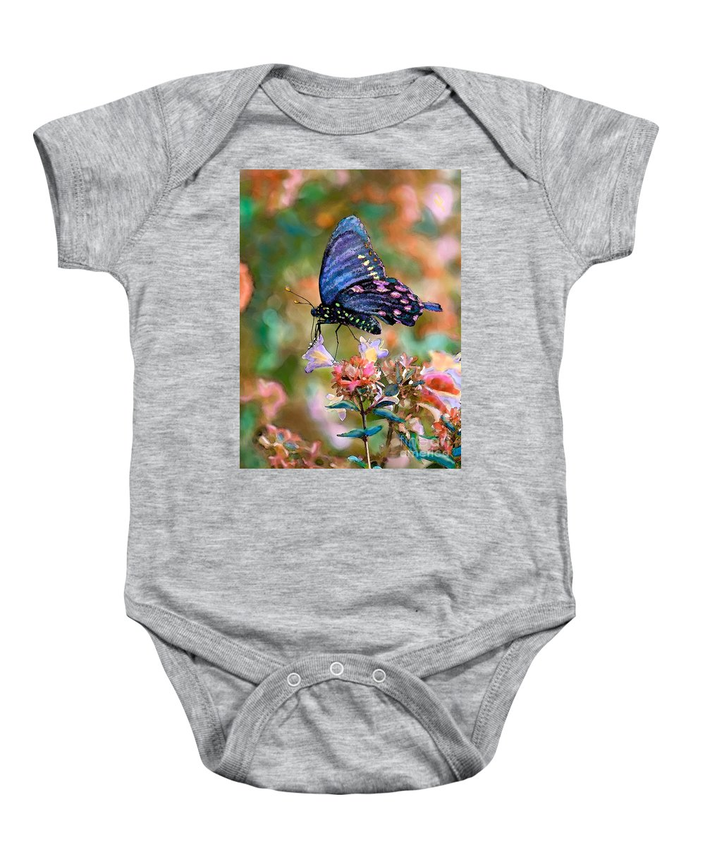 Nature Baby Onesie featuring the photograph I Dream Of Rainbow Colors by Betty LaRue