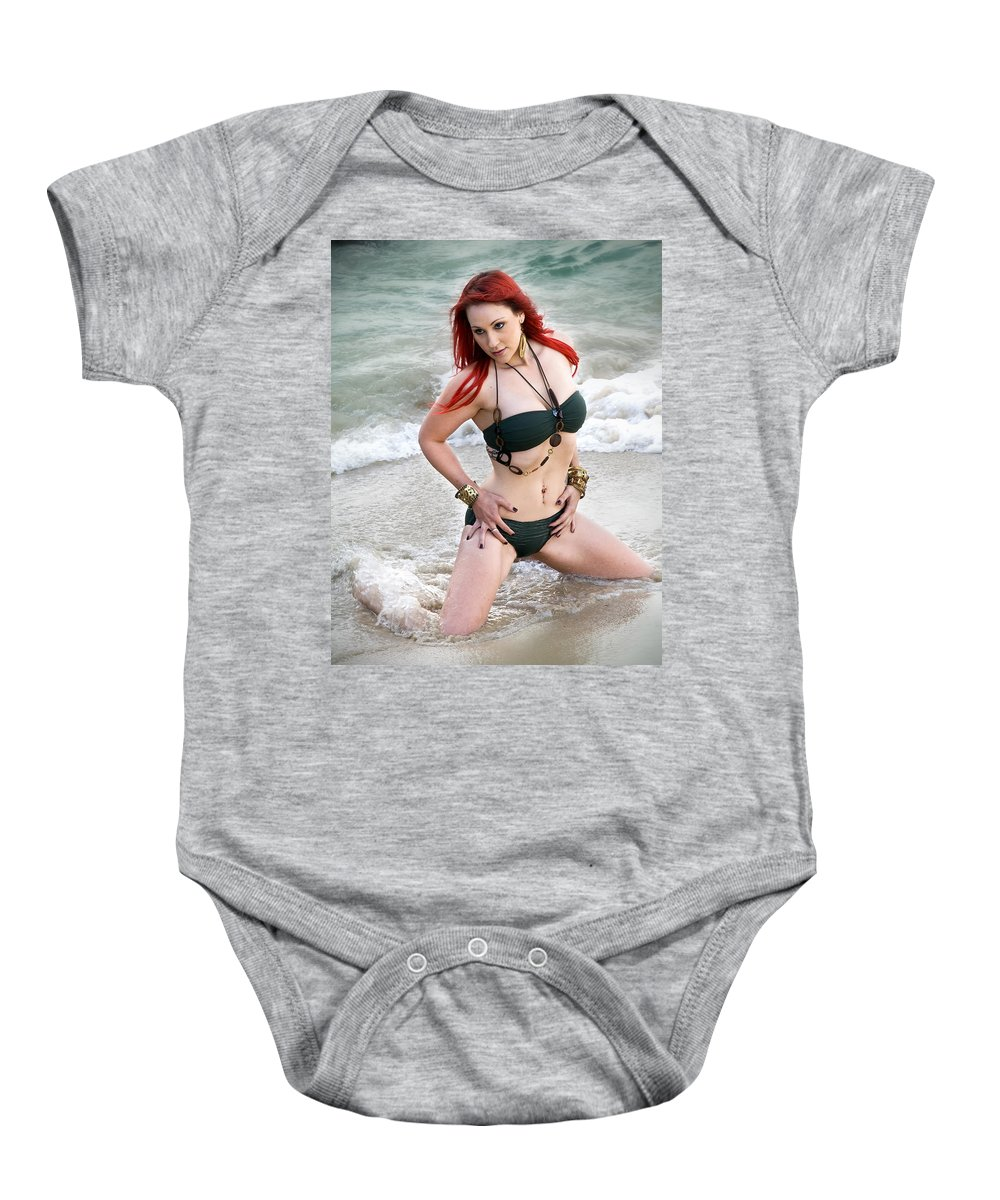 Model Baby Onesie featuring the photograph In Her Element by Kym Clarke