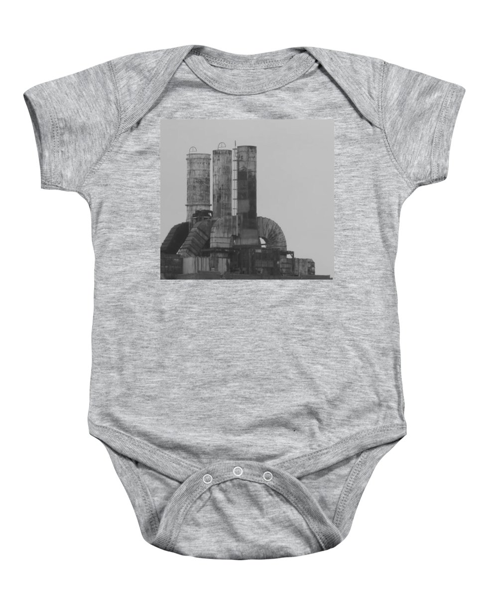Smoke Stacks Baby Onesie featuring the photograph Industry by Michele Nelson