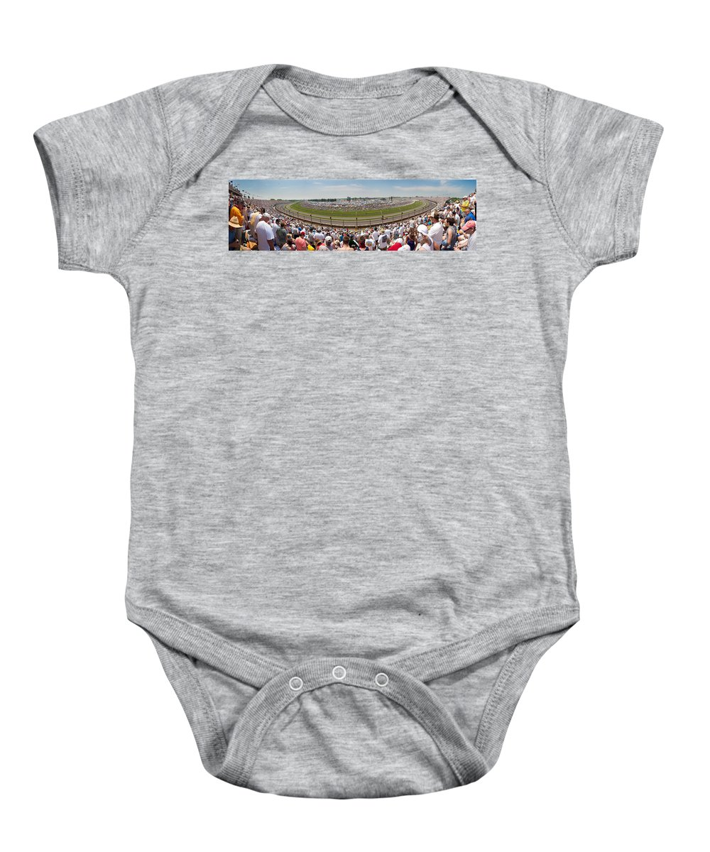 500 Baby Onesie featuring the photograph Indy 500 Race Day by Semmick Photo