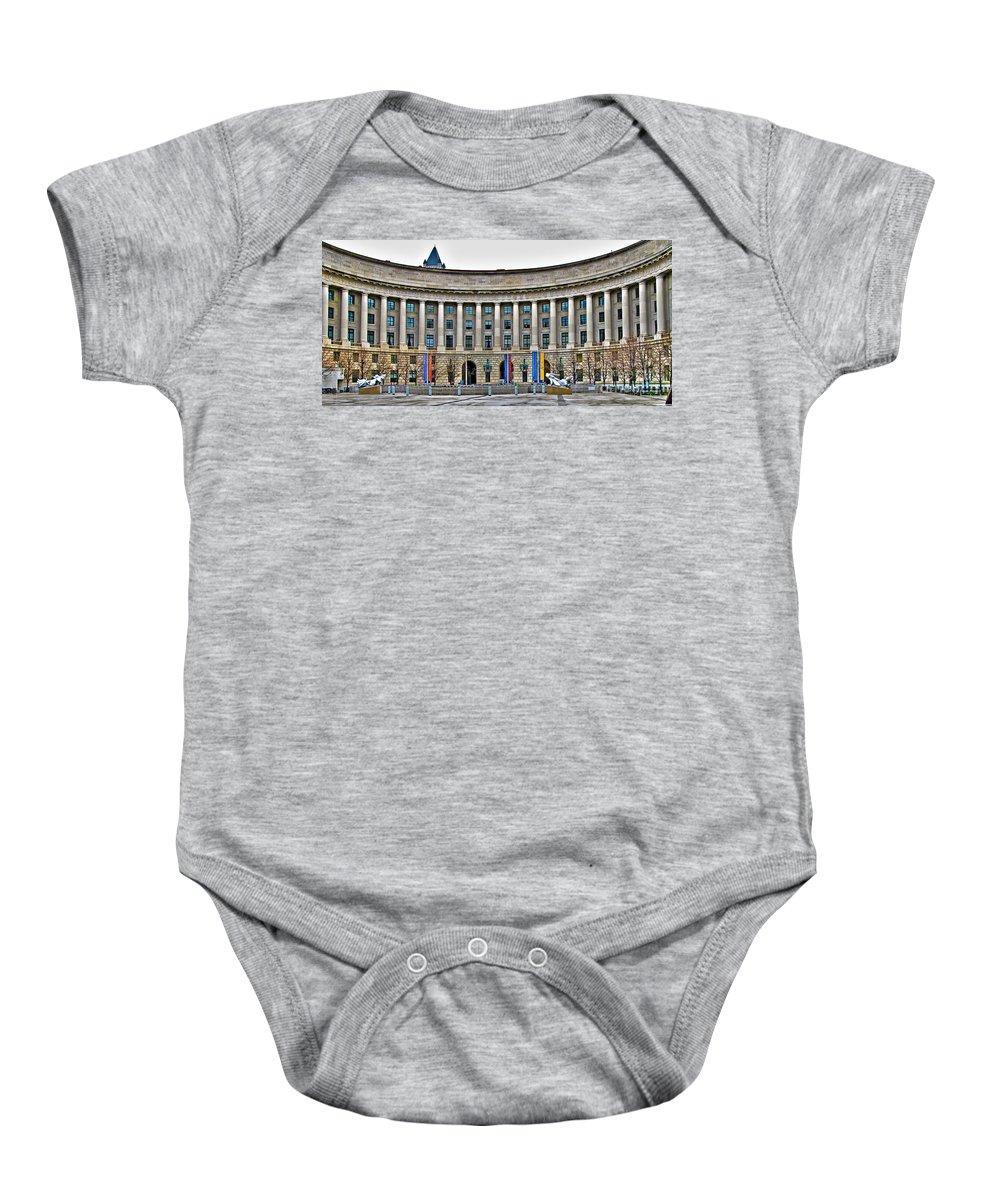Interstate Commerce Commission Baby Onesie featuring the photograph Interstate Commerce Commission by Jack Schultz