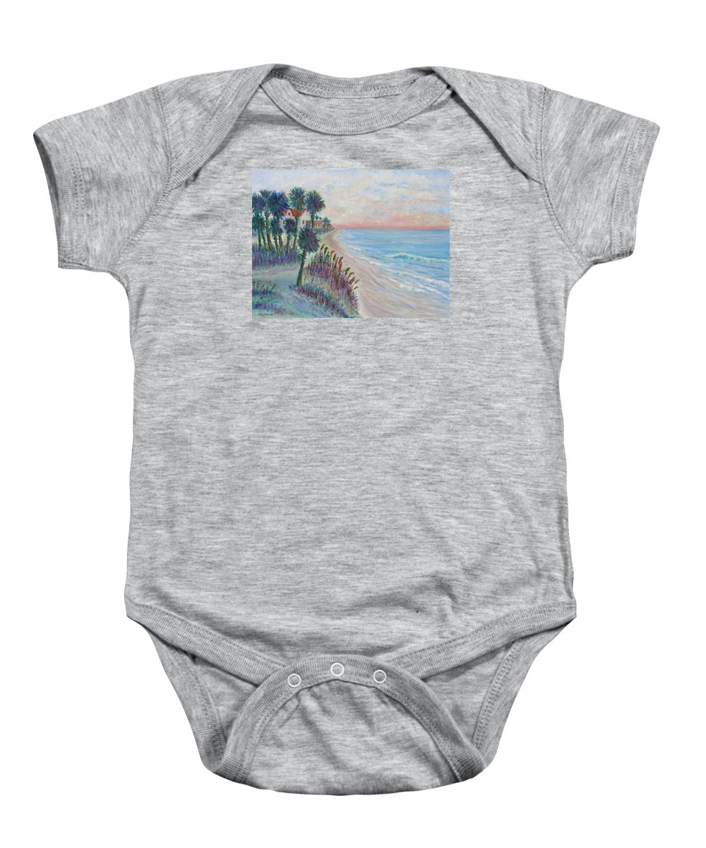 Seascape Baby Onesie featuring the painting Isle of Palms by Ben Kiger