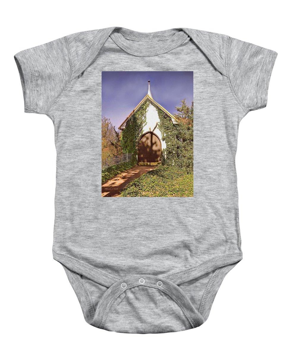 Church Baby Onesie featuring the photograph Ivy Church by Bonnie Willis