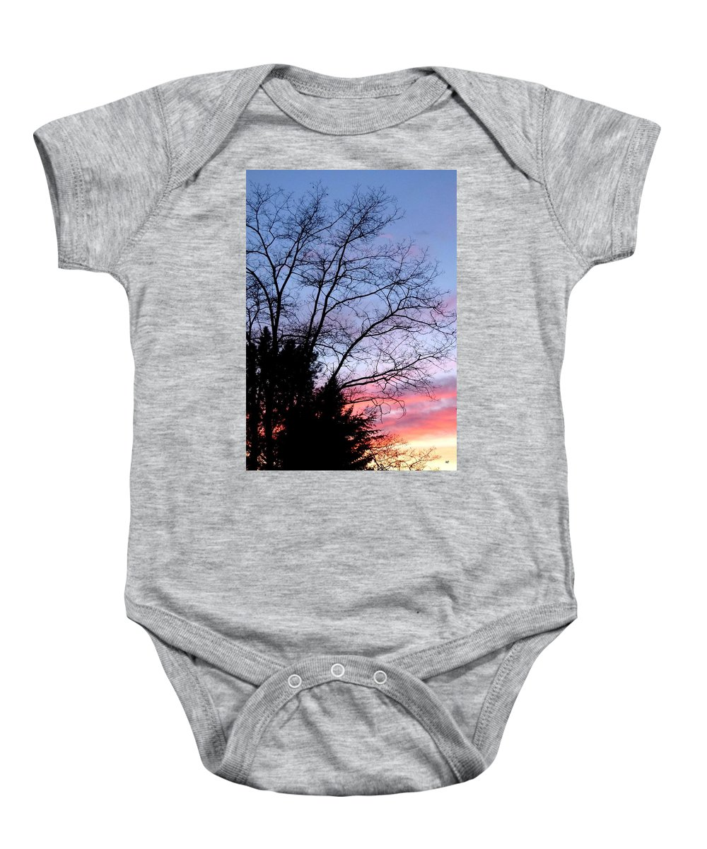 January Baby Onesie featuring the photograph January Silhouette by Will Borden