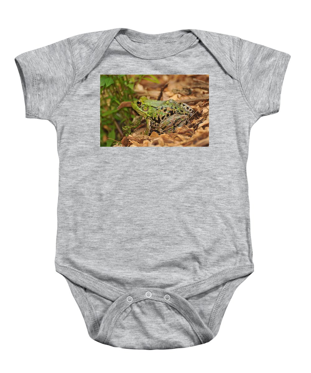Frog Baby Onesie featuring the photograph Just A Frog by Paul Ward