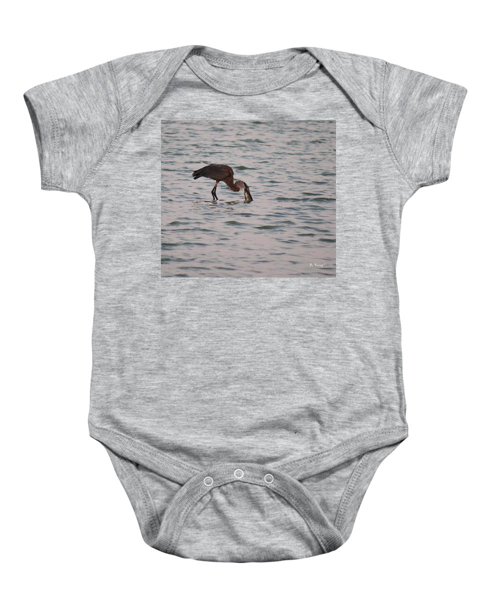 Roena King Baby Onesie featuring the photograph Just A Little Snack by Roena King