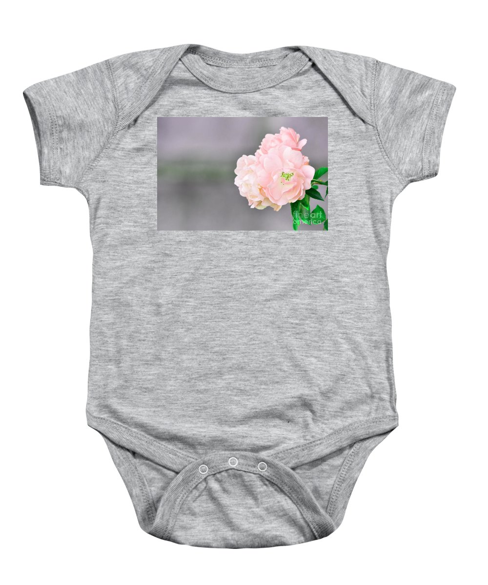 Flower Baby Onesie featuring the photograph Just Peachy by Traci Cottingham
