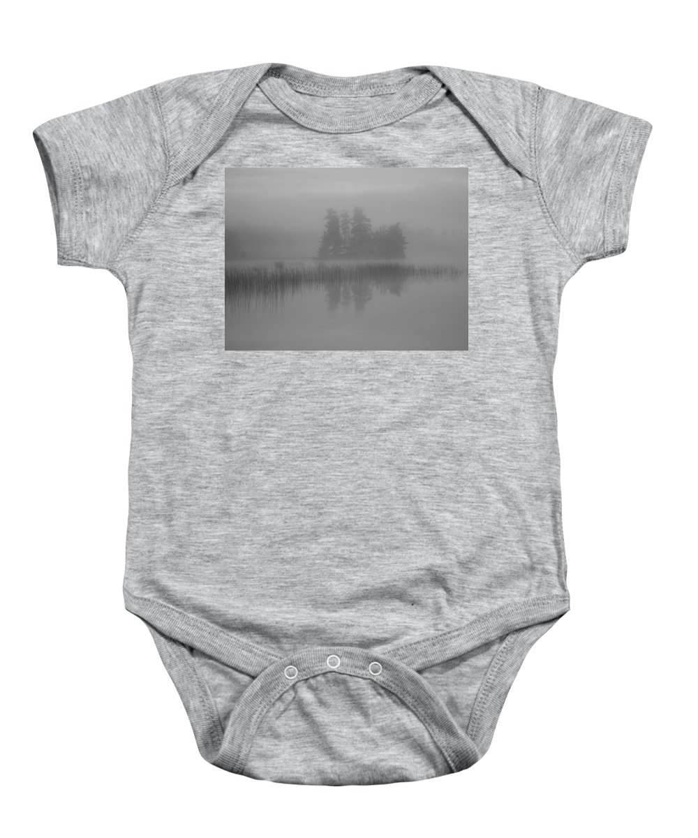 Beauty In Nature Baby Onesie featuring the photograph Lake Of The Woods, Ontario, Canada Mist by Keith Levit