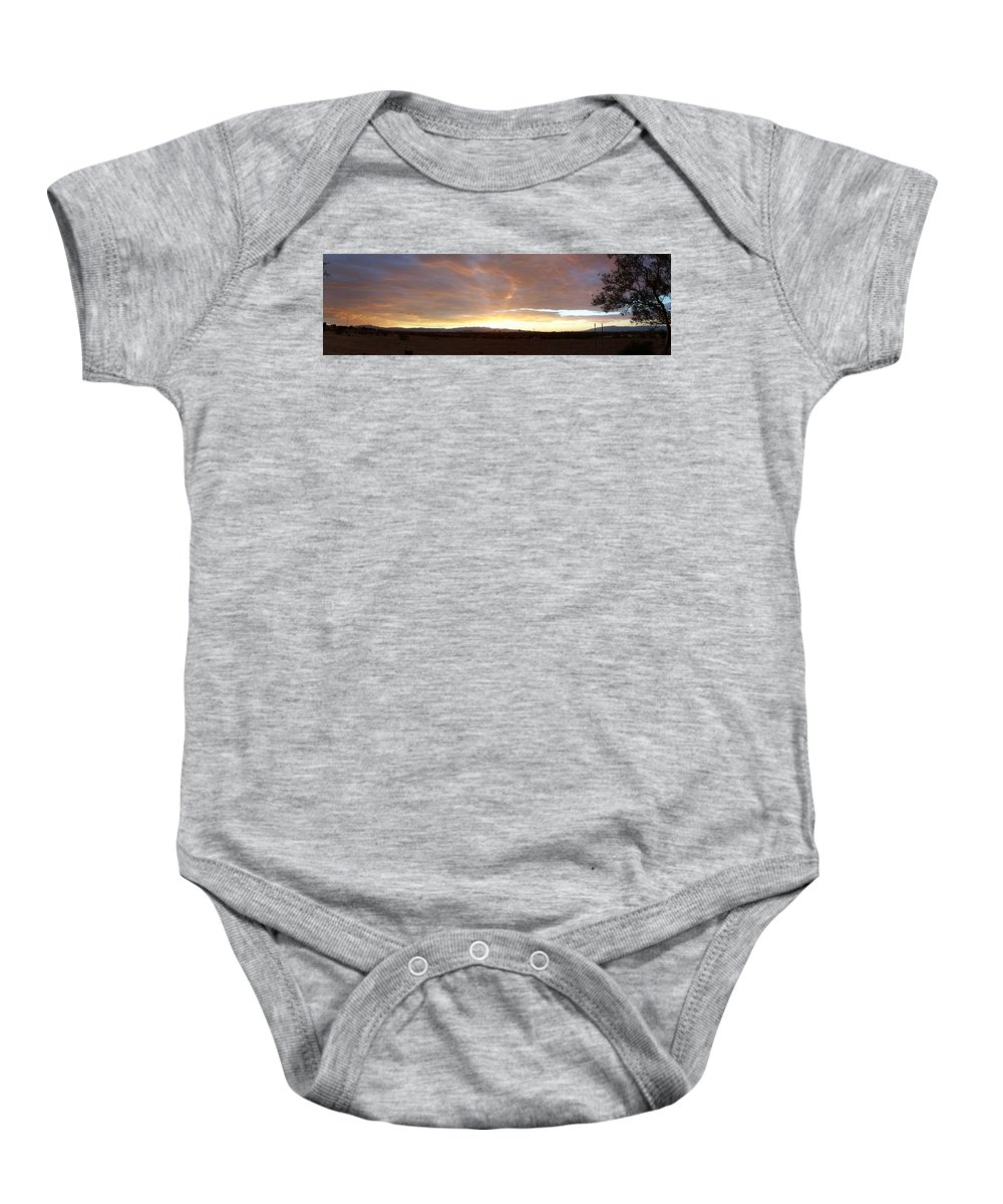 Sunset Baby Onesie featuring the photograph Las Vegas Sunset by Jonathan Barnes