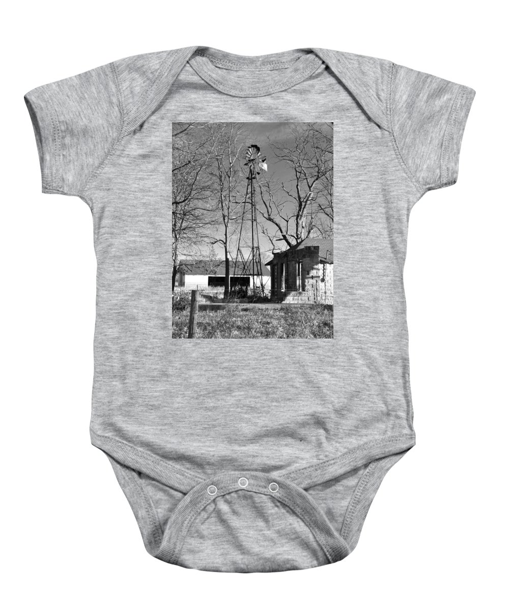 Windmill Baby Onesie featuring the photograph Left Standing by Brittany Horton