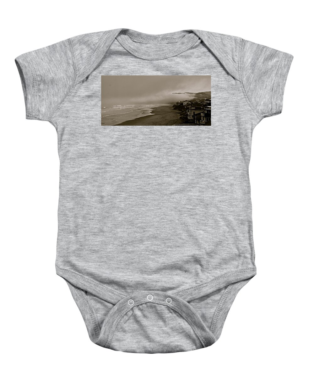 Oregon Baby Onesie featuring the photograph Lifting Fog by Eric Tressler