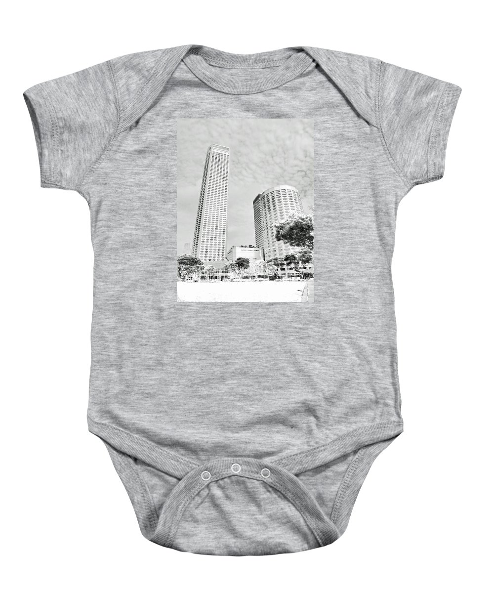 Perspective Baby Onesie featuring the photograph Light And Perspective by Steve Taylor
