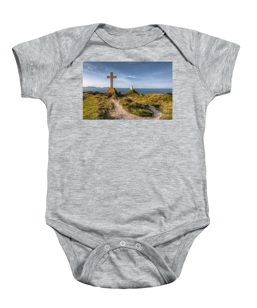 Anglesey Baby Onesie featuring the photograph Llanddwyn Island by Adrian Evans