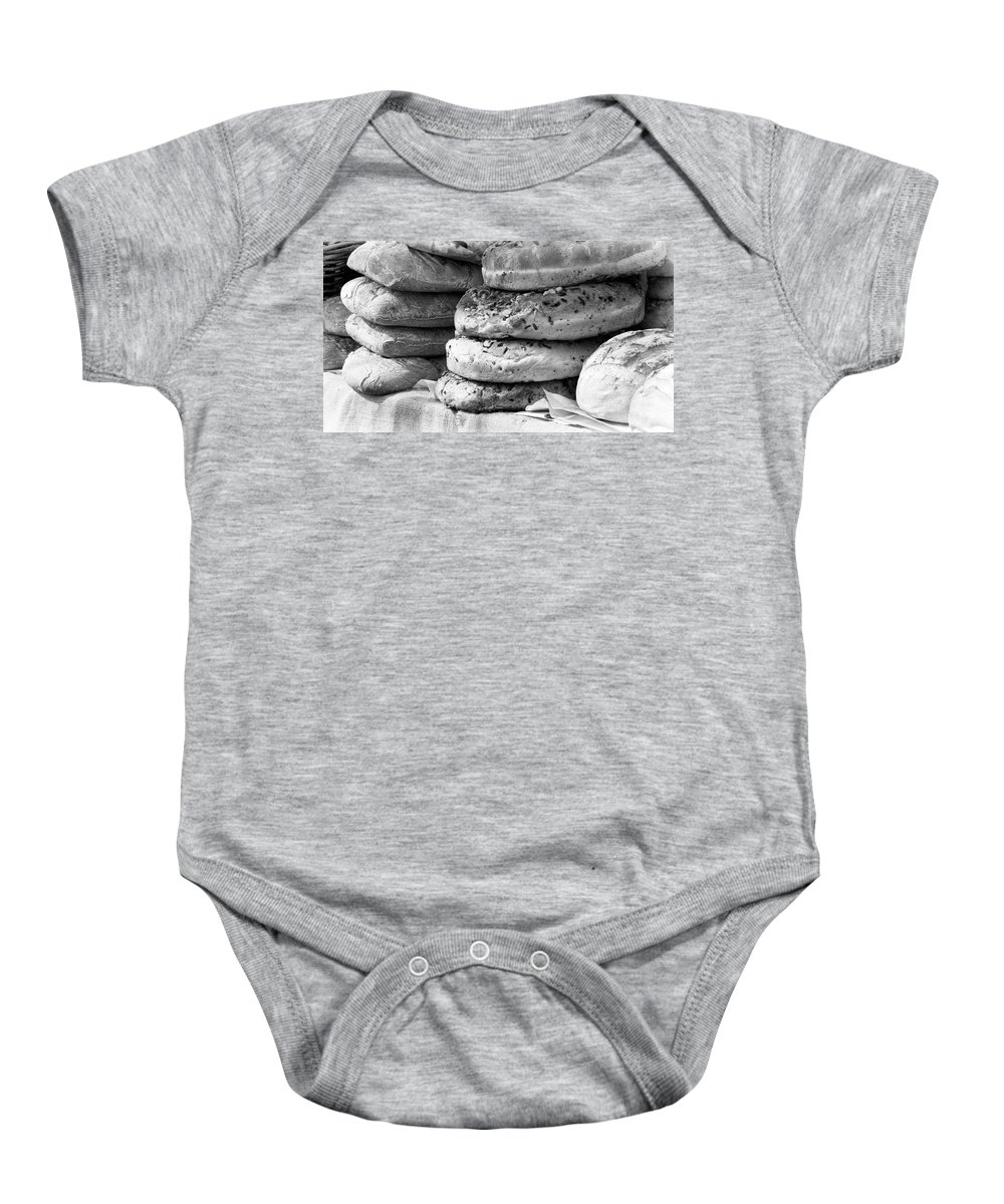 Bread Baby Onesie featuring the photograph Loafs by David Resnikoff