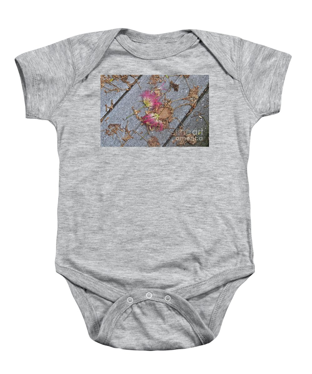 Locust Baby Onesie featuring the photograph Locust Fans by Catherine Conroy