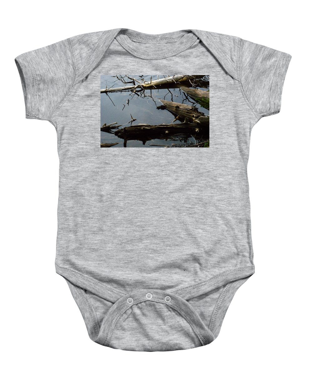 Drift Wood Baby Onesie featuring the photograph Log Jam by Brian Kerls