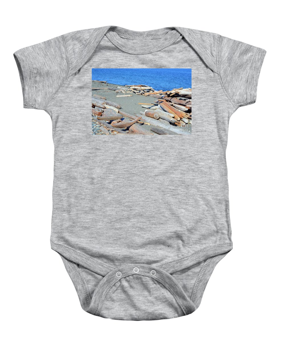 British Columbia Baby Onesie featuring the photograph Logged Out by Traci Cottingham