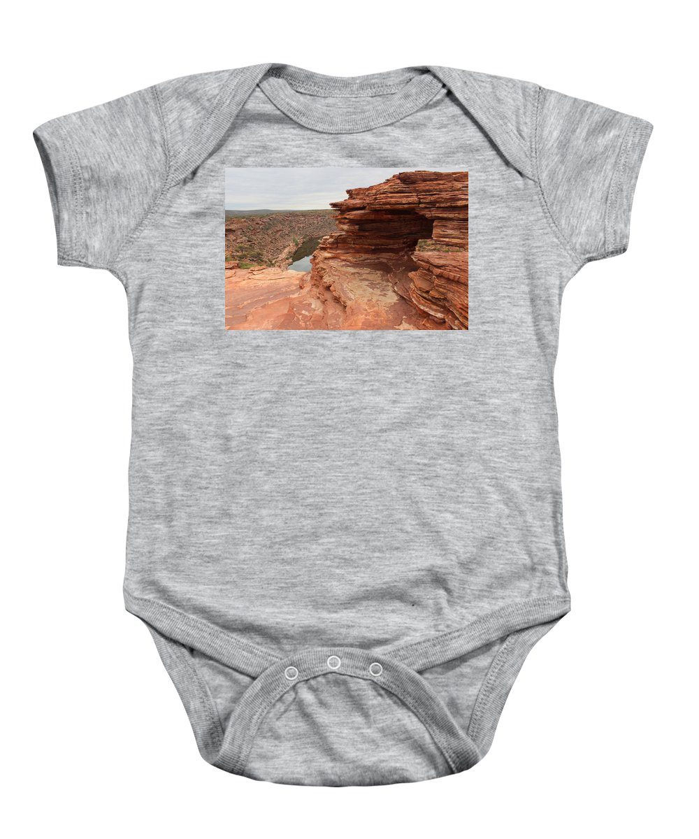 Natures Window Baby Onesie featuring the photograph Looking Past Natures Window by Robert Caddy