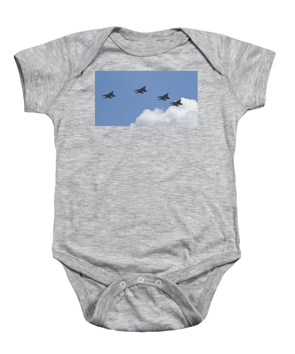 Fighters Baby Onesie featuring the photograph Loose Deuce Eagles by Tim Mulina