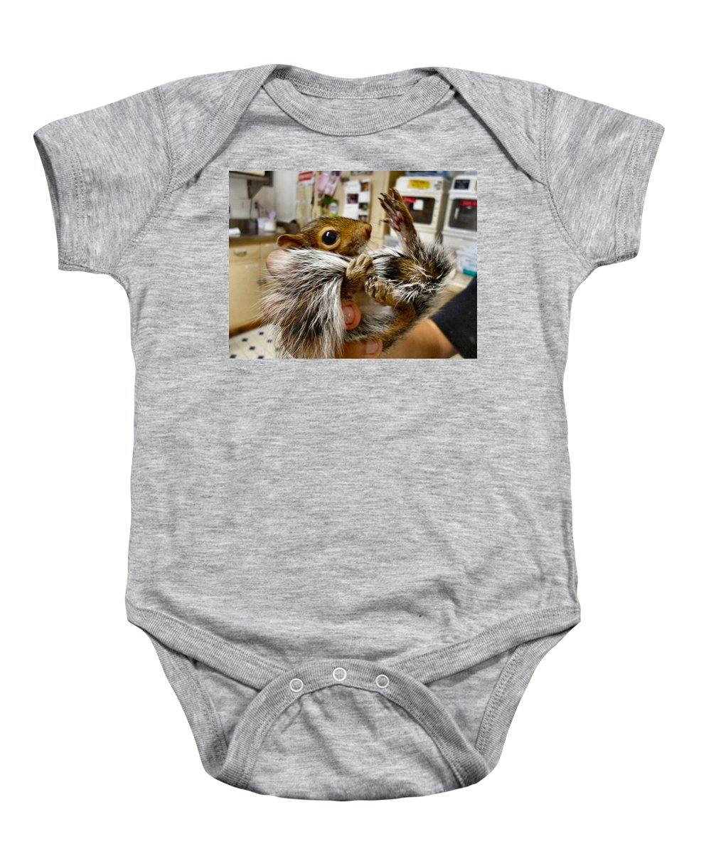Antler Baby Onesie featuring the photograph Love My Tail by Art Dingo