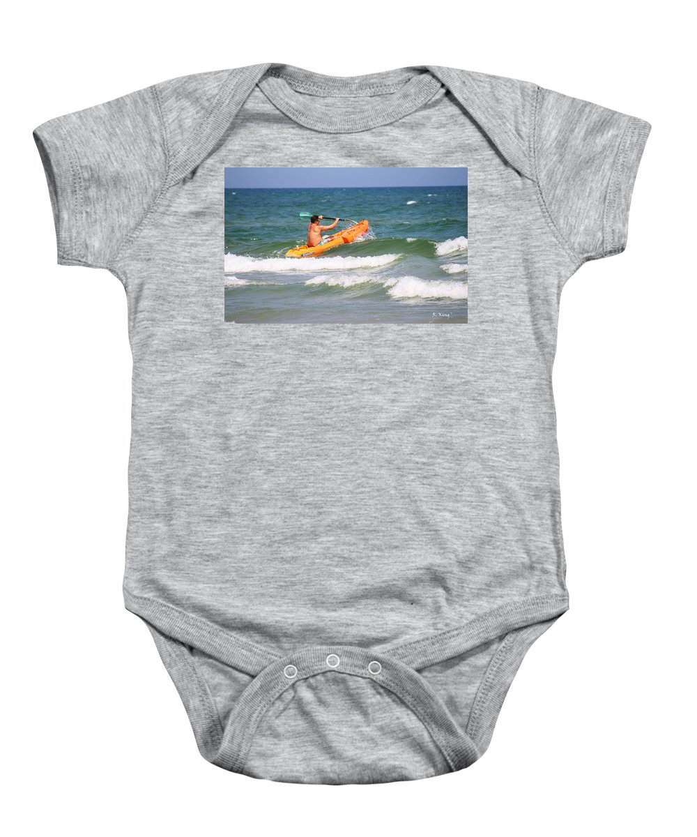 Roena King Baby Onesie featuring the photograph Made It Past The Breakwater by Roena King