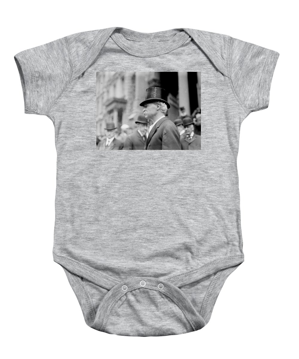 mark Twain Baby Onesie featuring the photograph Mark Twain by International Images