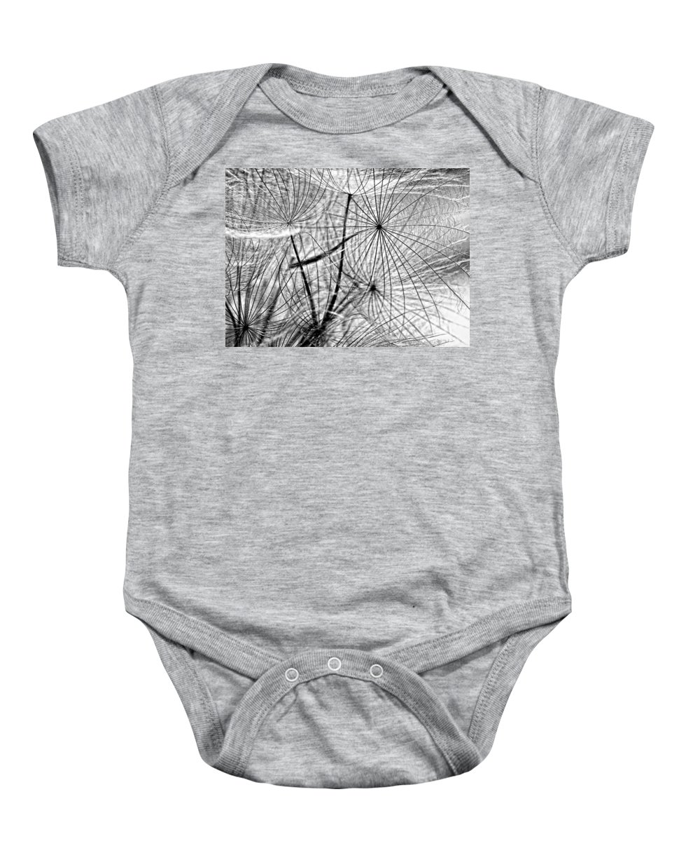 Weed Baby Onesie featuring the photograph Matrix Monochrome by Steve Harrington