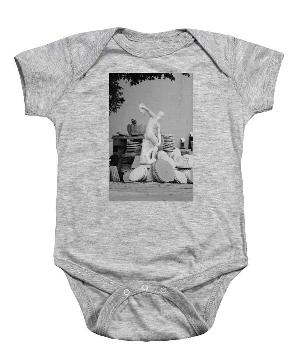 Black And White Baby Onesie featuring the photograph Max Klinger by Rob Hans