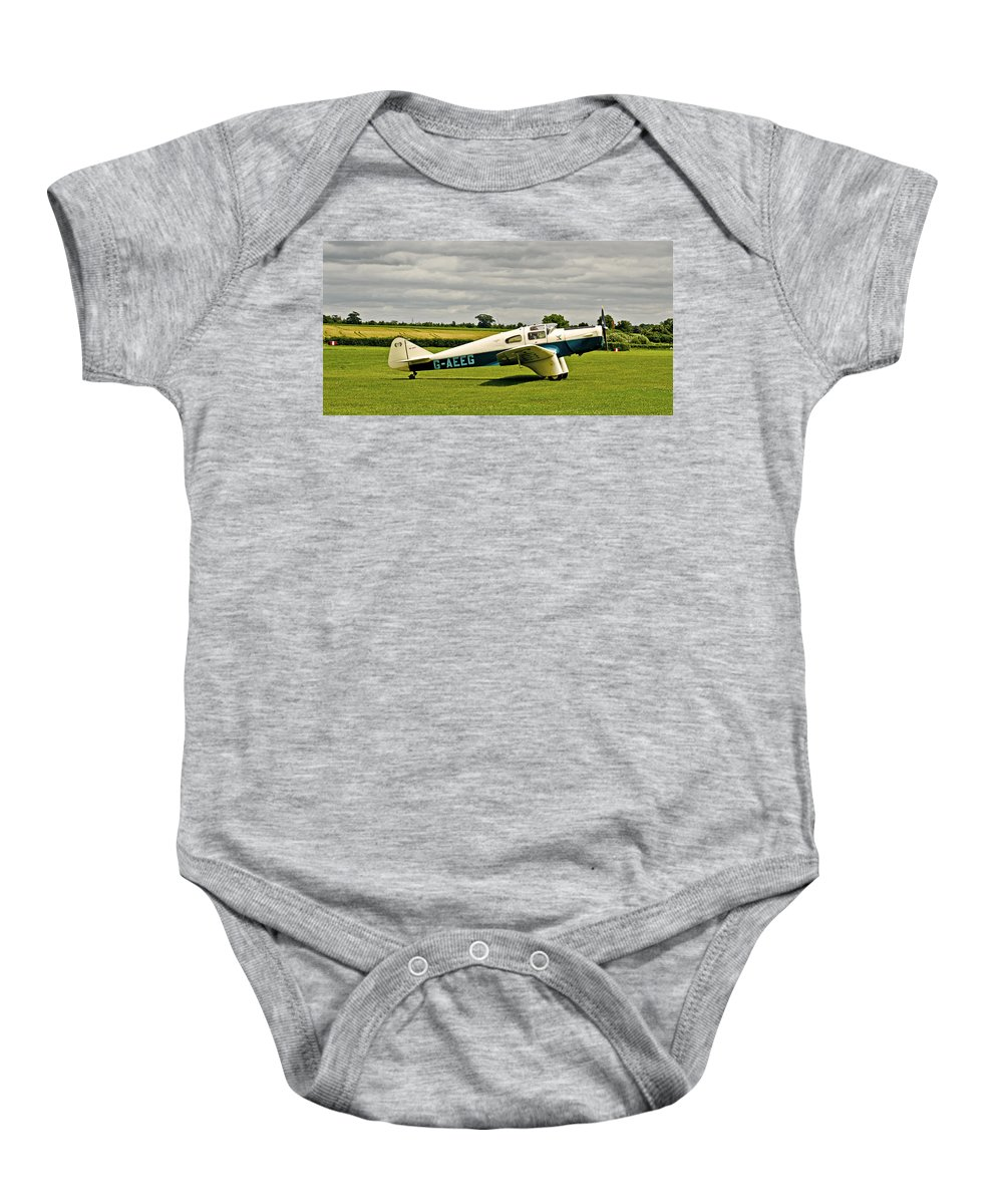 Miles M3 Falcon Aeroplane Baby Onesie featuring the photograph Miles M.3 Falcon Circa 1934 by Chris Thaxter