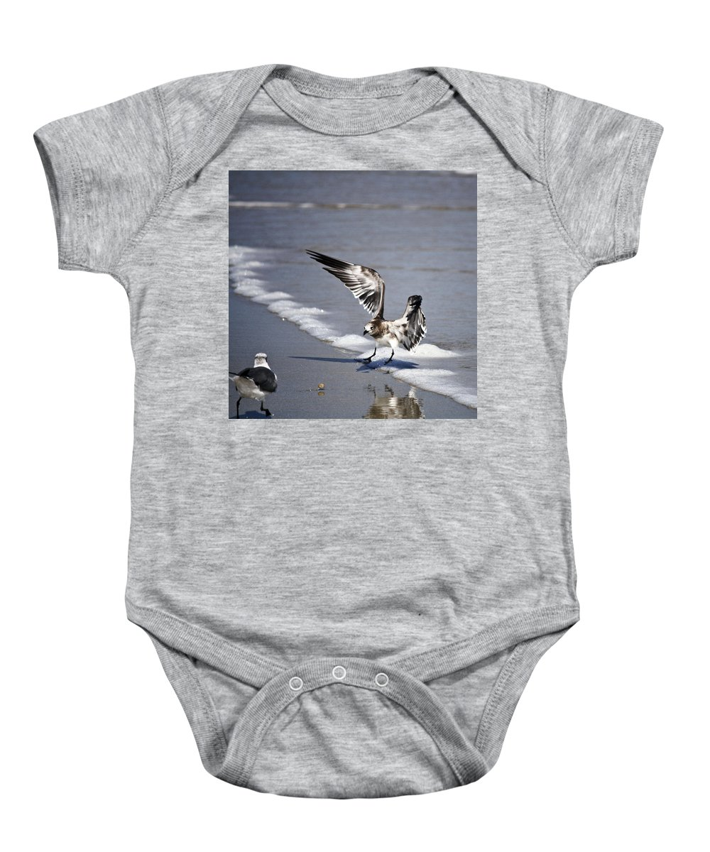Sunlight Baby Onesie featuring the photograph Mine by Teresa Mucha