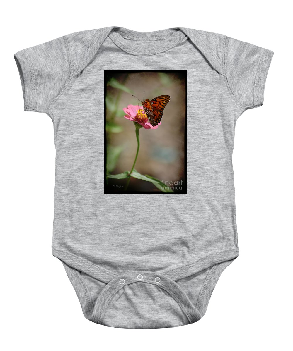 Flowers Baby Onesie featuring the photograph Monarch Beauty by Donna Bentley