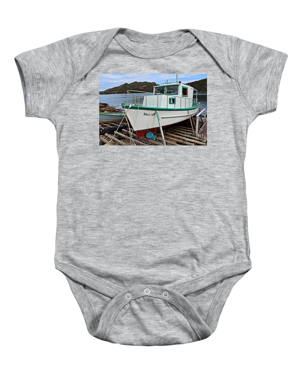 Morning Glory Waiting For Spring Baby Onesie featuring the photograph Morning Glory Waiting For Spring by Barbara Griffin