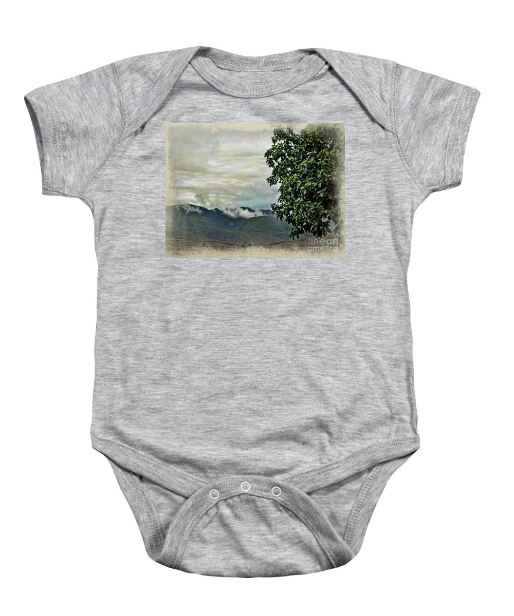 Maui Mountains Baby Onesie featuring the photograph Mountain Time by Joan Minchak