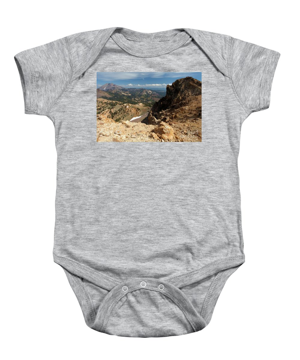 Lassen Volcanic National Park Baby Onesie featuring the photograph Mountains At Lassen by Adam Jewell