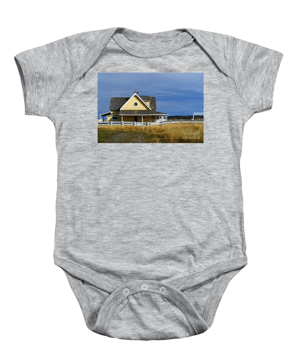 Old House Baby Onesie featuring the photograph Movie House by Randy Harris