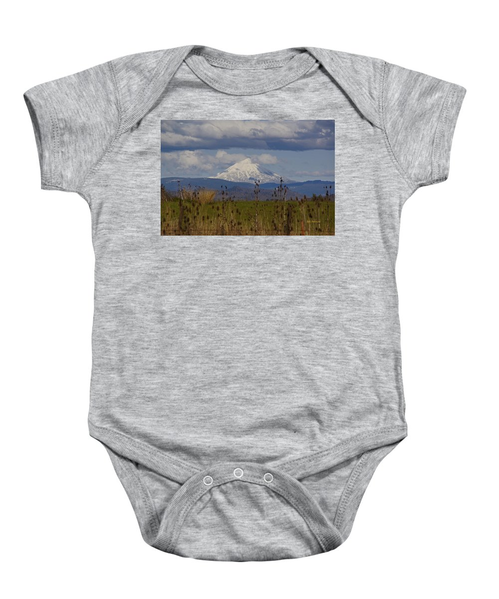 Mount Mclaughlin Baby Onesie featuring the photograph Mt Mclaughlin Springtime by Mick Anderson