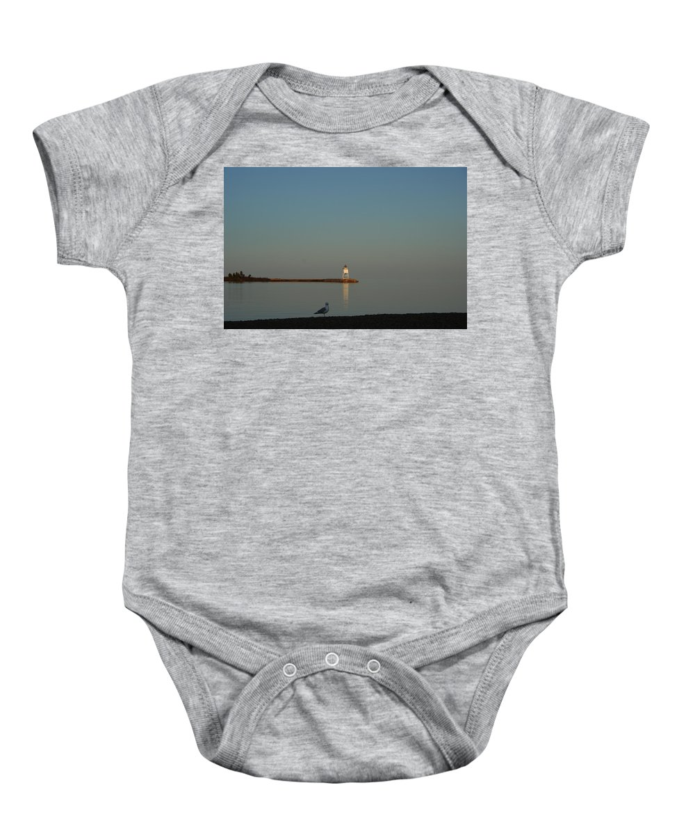 Baby Onesie featuring the photograph My Coffee Buddy by Joi Electa