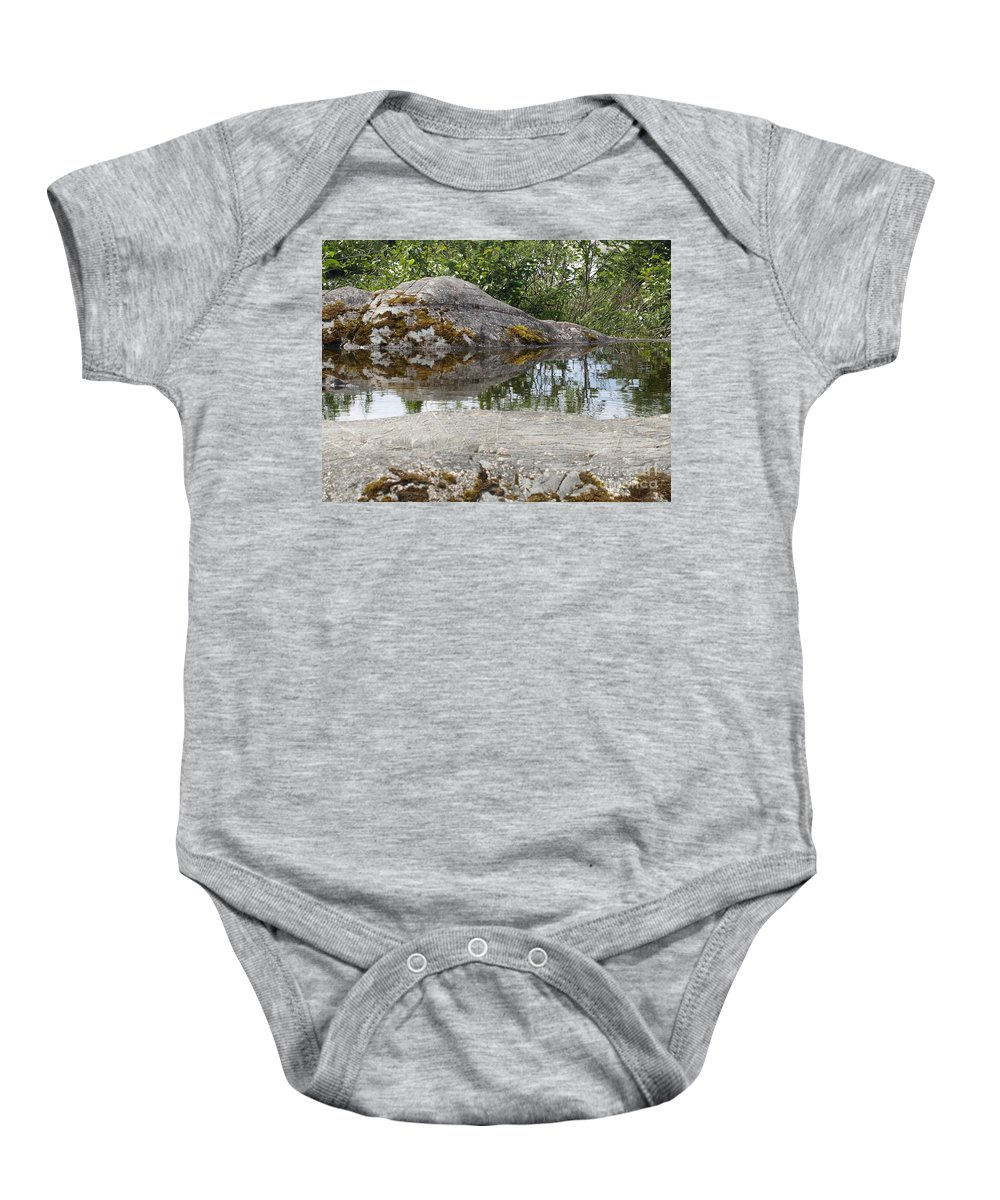 Water Baby Onesie featuring the photograph Nature's Mirror by Jessica Foster