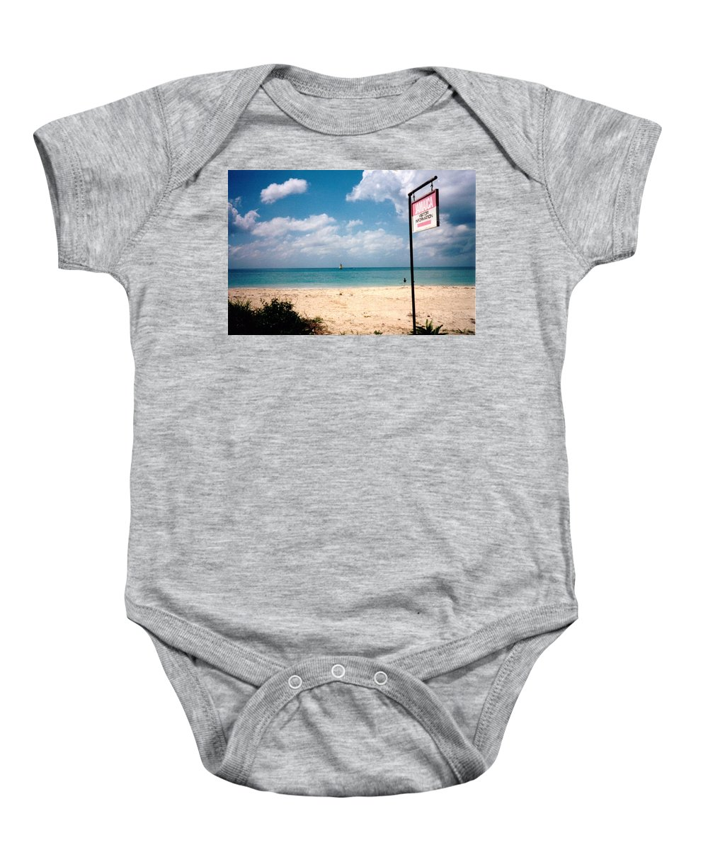 Jamaica Baby Onesie featuring the photograph Negril Beach Jamaica by Debbie Levene