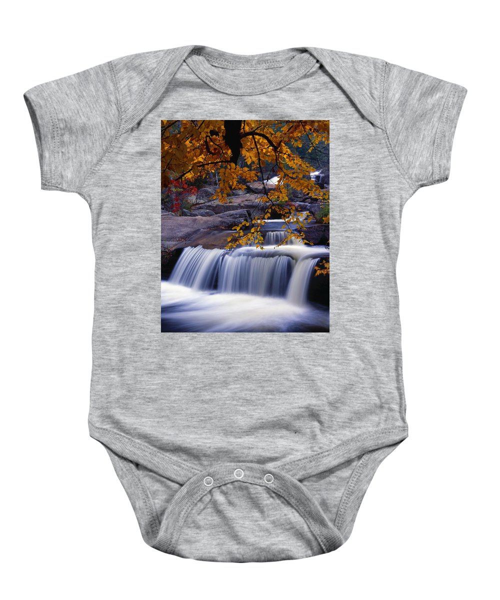 Autumn Colors Baby Onesie featuring the photograph Nesowadnehunk Stream by Natural Selection Robert Cable