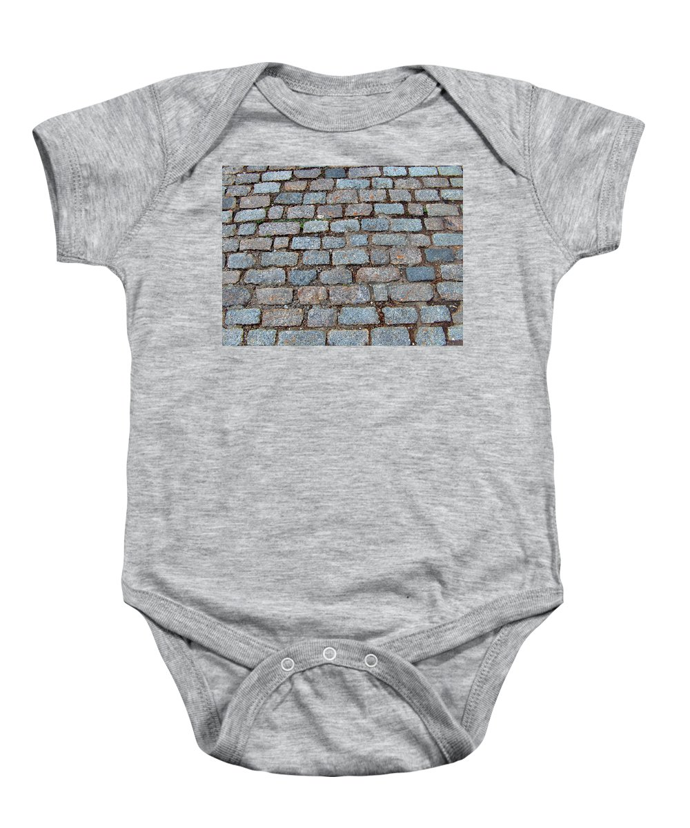 Original Baby Onesie featuring the photograph New Bedford Mass Brick Street 2006 by Carl Deaville