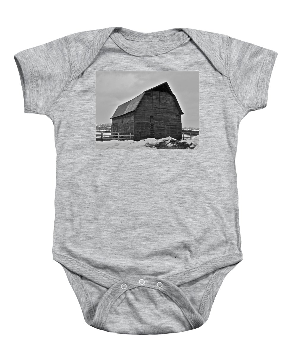 Barn Baby Onesie featuring the photograph Noble Barn by Eric Tressler