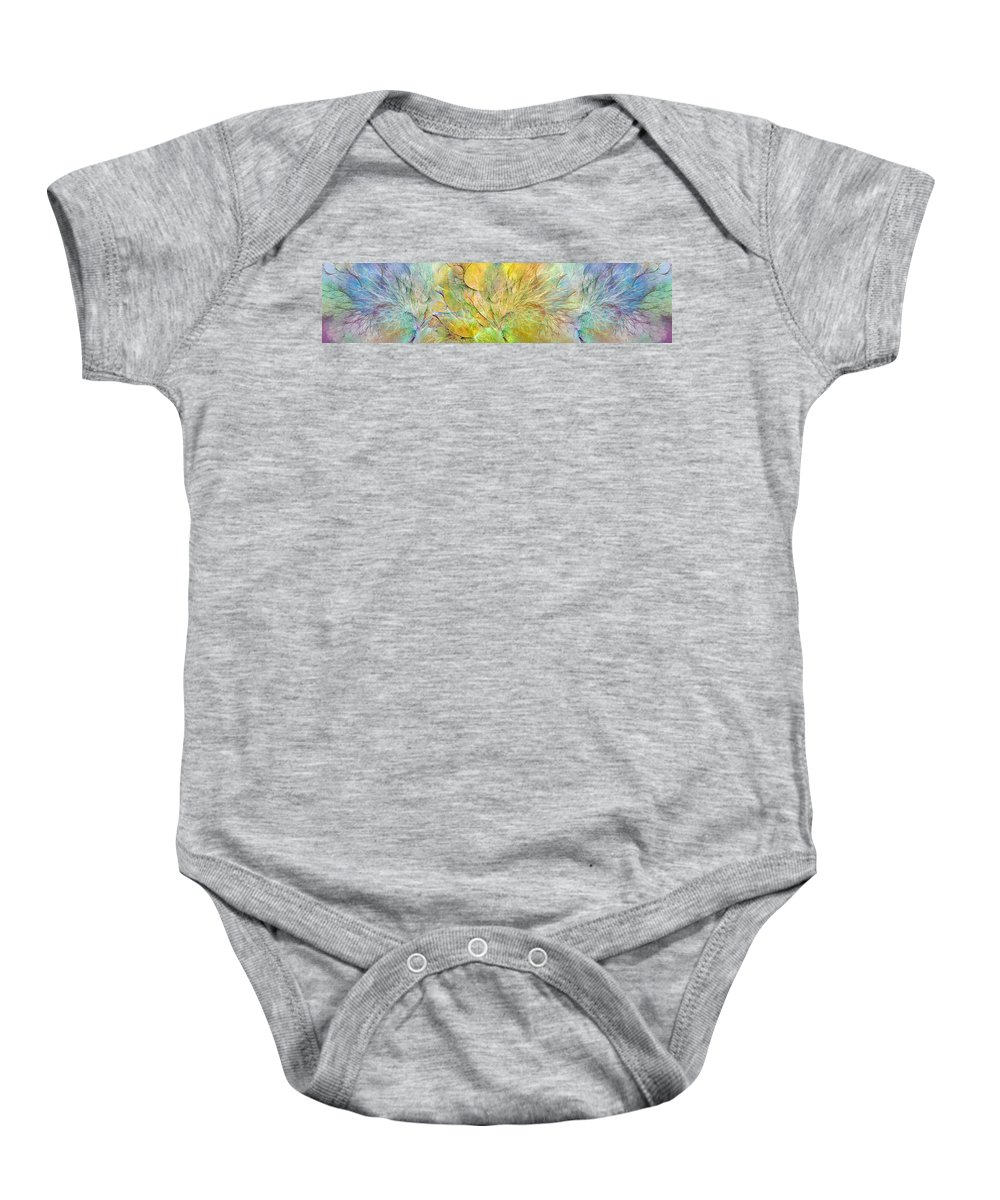 Fractal Baby Onesie featuring the digital art Ocean Paradise by Betsy Knapp