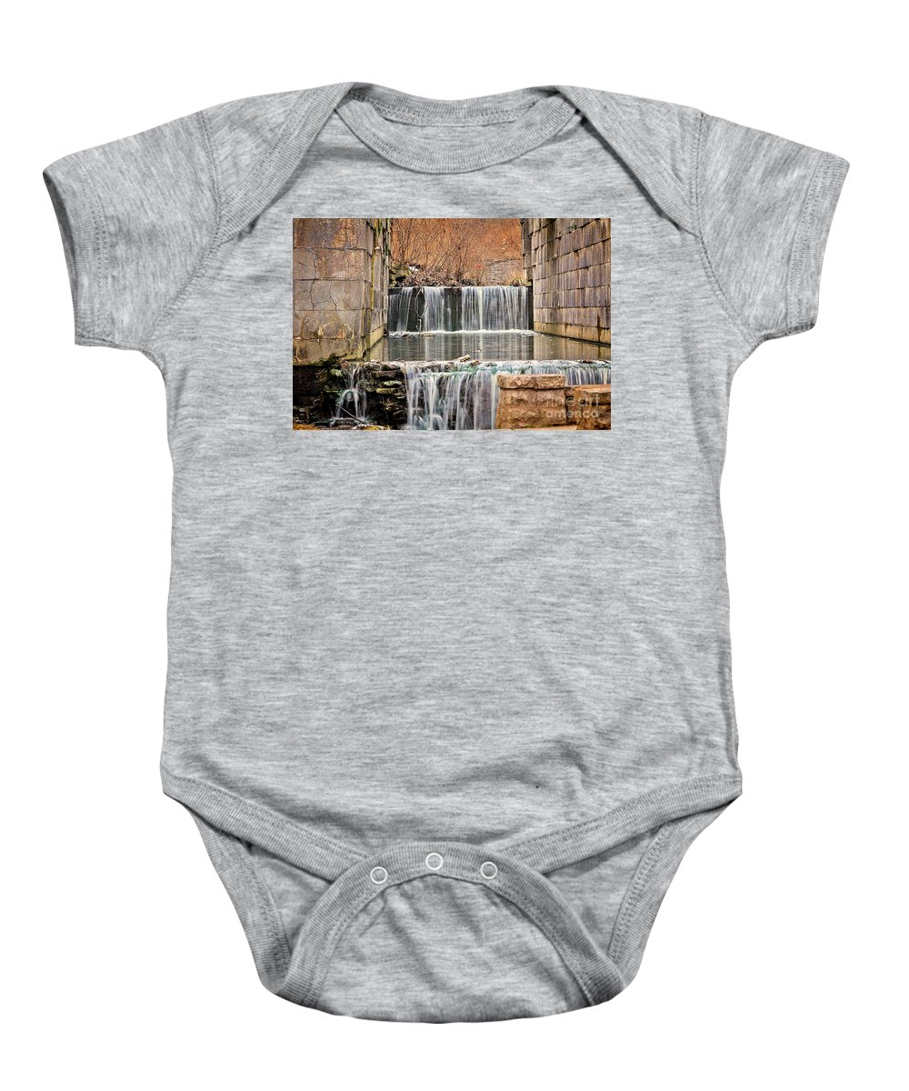Erie Canal Baby Onesie featuring the photograph Old Erie Canal Locks by Jack Schultz