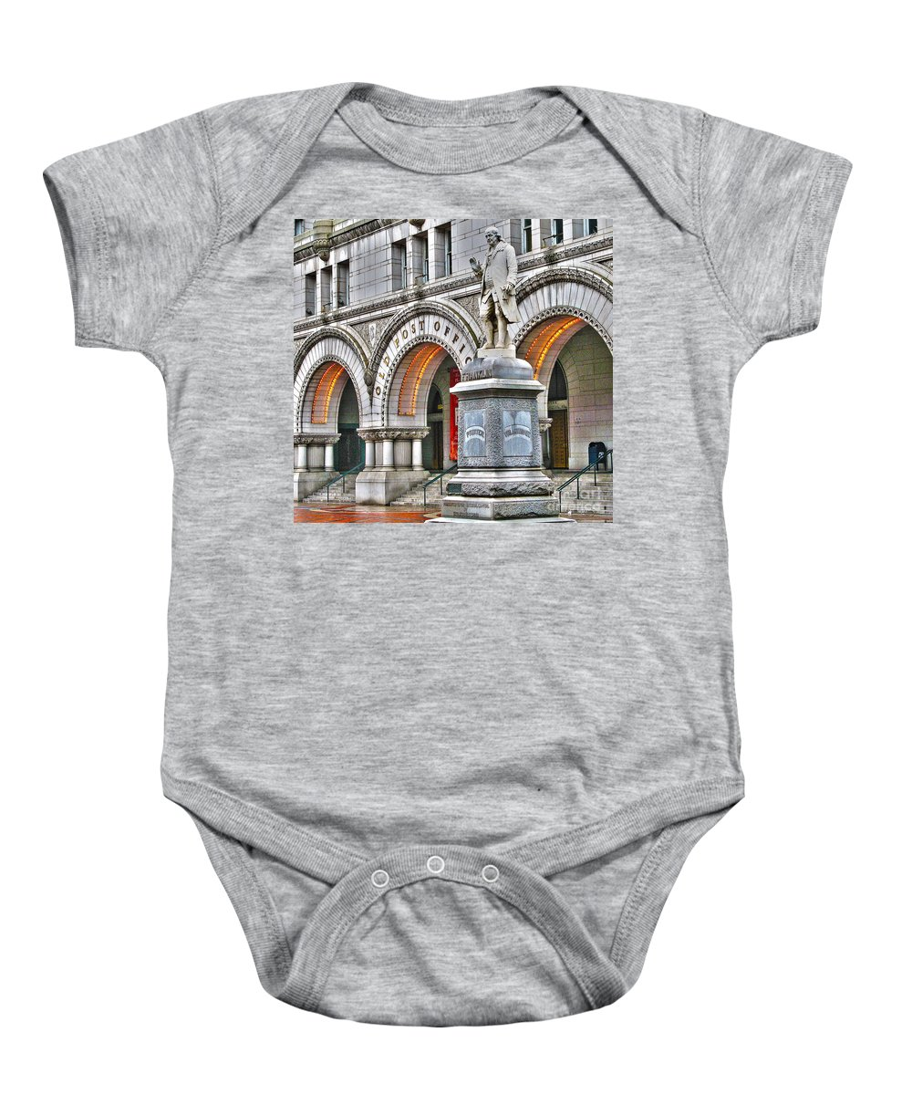 Old Post Office Pavillion Baby Onesie featuring the photograph Old Post Office Pavillion Washington Dc by Jack Schultz