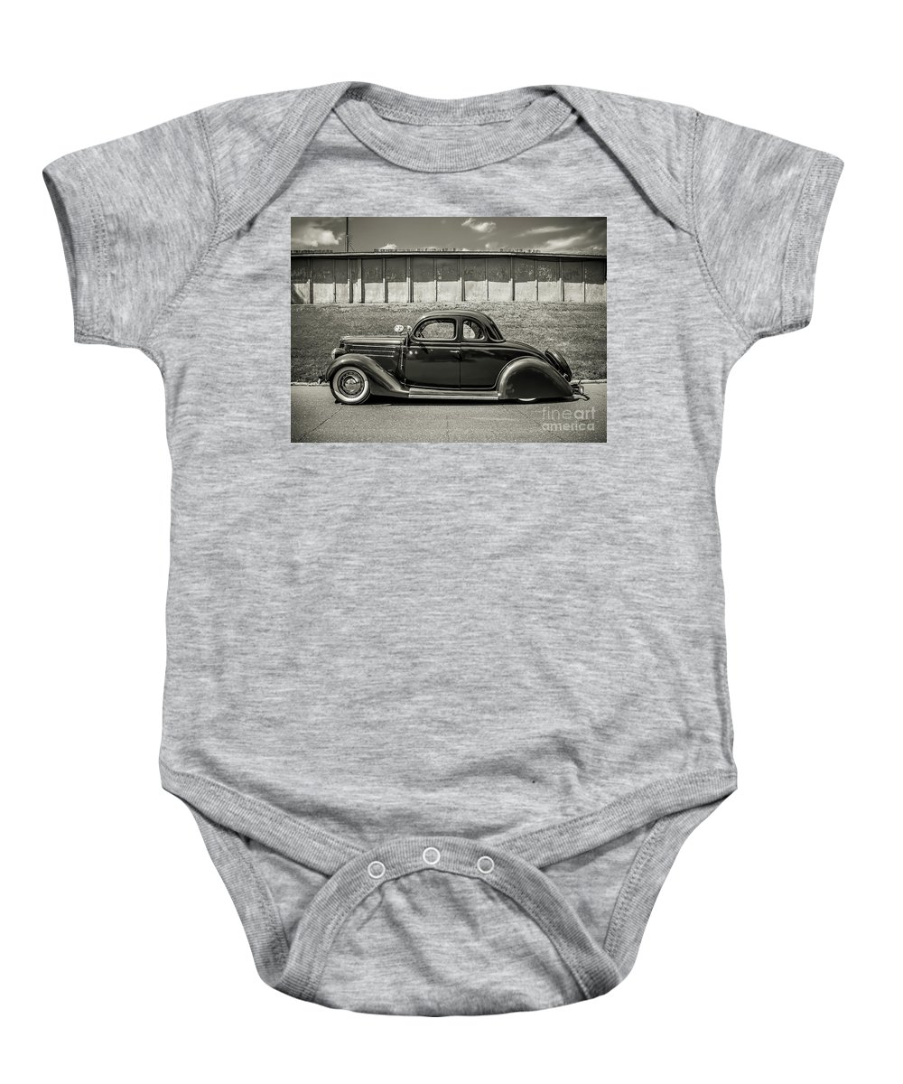 Car Baby Onesie featuring the photograph Old Time Class by Perry Webster